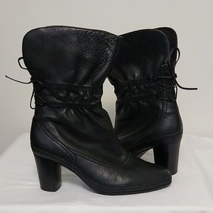 Clark's Artisan Leather Boots Back Laces Size 7.5